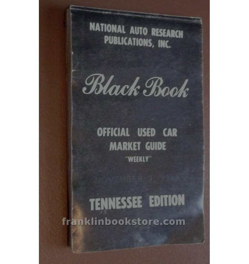 Black Book - Official Used Car Market Guide November 3 1980 ...