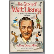 The Story of WALT DISNEY 1st Dell Printing 1959 Paperback with/Photos