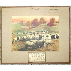 """1928 """"The Feeding Flock"""" Calendar Choice Family Groceries"""
