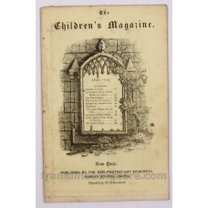 April 1852 The Children's Magazine The White Pigeon with Wood Cut by Nathaniel Orr