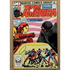Marvel Comic Team America 1982 #9 Feb