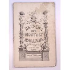 Civil War Harper's Monthly August 1862 Norway, Manhattan