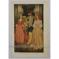 1909 Color Lithograph by Elizabeth Shippen Green Early 18th Century Ladies