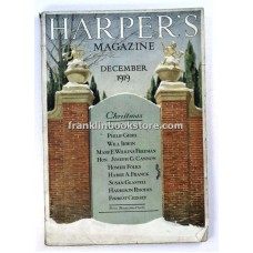 Elizabeth Shippen Green, Harper's Monthly December 1919 Joseph Gurney Cannon, Influenza Japan Monk, World War I,