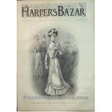 Harper's Bazar April 15 1899 Early Summer Costume of Crepe De Chine