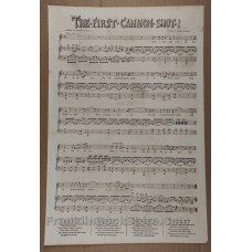1853 Sheet Music and Illustrations The First Cannon Shot! Crimean War