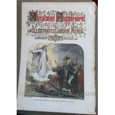 Christmas 1855 FIRST High Volume COLOR Woodcut Printing! The Herald Angel