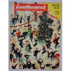 1953 December Leatherneck Marines, Christmas Ball Cover Illustration