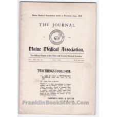 World War I, Venereal, July 1918 Maine Medical, Yeast