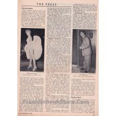 Marilyn Monroe and Joe DiMaggio Page October 18, 1954