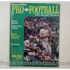 GamePlan Pro Football Annual Preview 1971