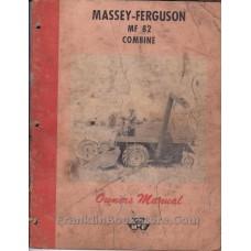 MF 82 Combine Owner's Manual Massey-Ferguson