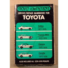 Toyota Repair Manual 1970 to 1978 Road Emperor