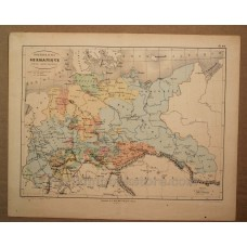 Confederation Germanique Partie Septentrionale Karte 1840's