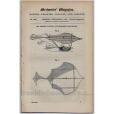 Mechanics' Magazine September 25 1852  No. 1520 Sir George Cayley's Governable Parachutes