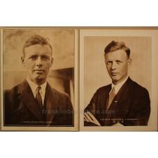 Charles A. Lindberg 1929 2 Photo Prints