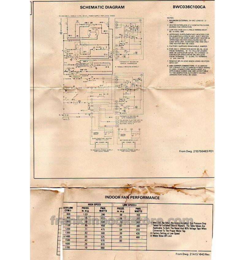bwc036c100ca trane 1987 wiring diagrams