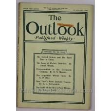 Boer War, Sobriety, David Muzzey 1900 The Outlook Magazine January 13th