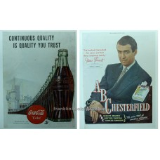 1947 Coca-Cola & Chesterfield with James Stewart