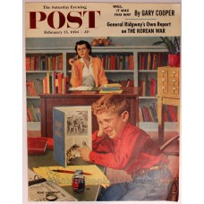 Frog in the Library Cover Art Post February 25, 1956