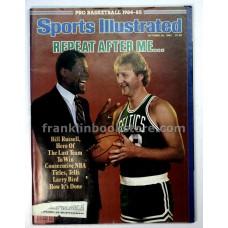 Bill Russell and Larry Bird Sports Illustrated October 29 1984, Dan Marino
